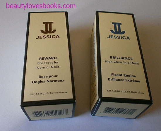 Jessica Reward base coat and Jessica Brilliance top coat