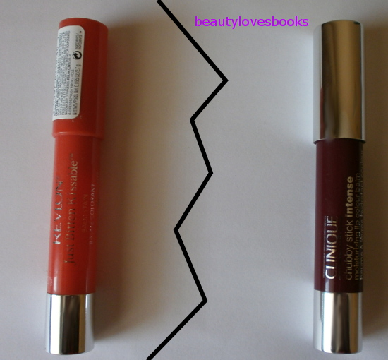 Clinique Chubby sticks vs. Revlon Just Bitten Balm stains