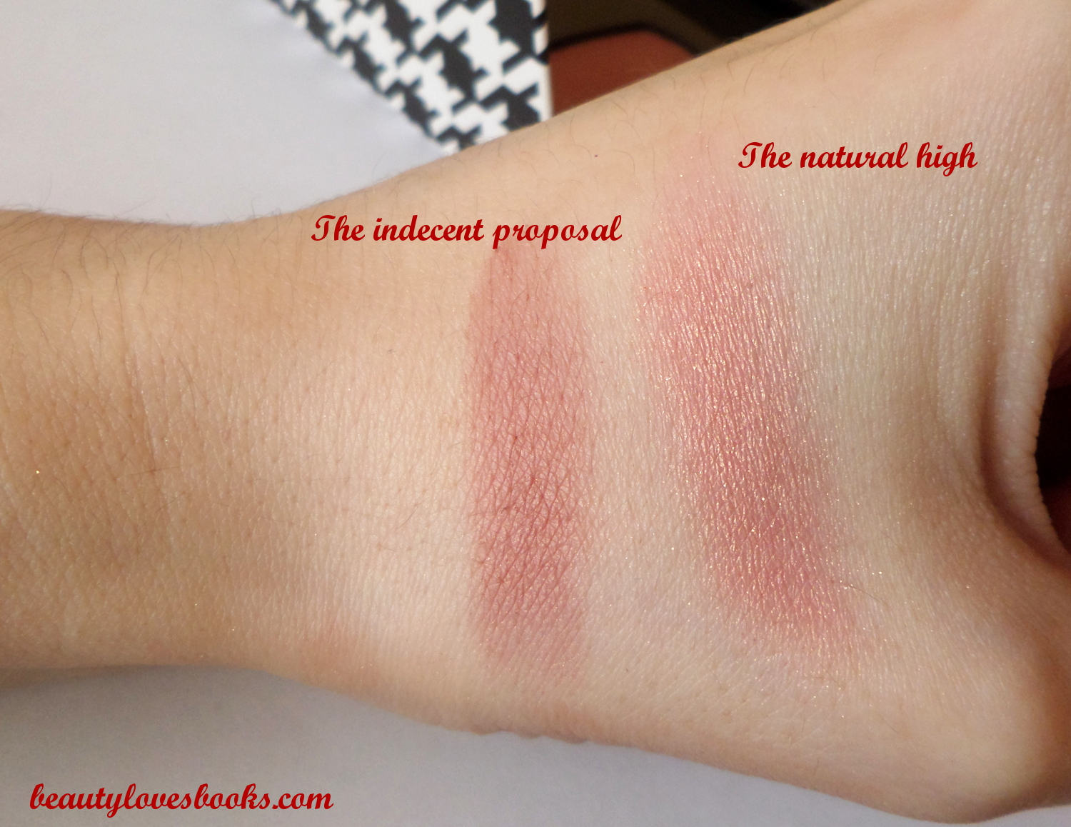 Bare minerals the Magic act palette blushes swatches