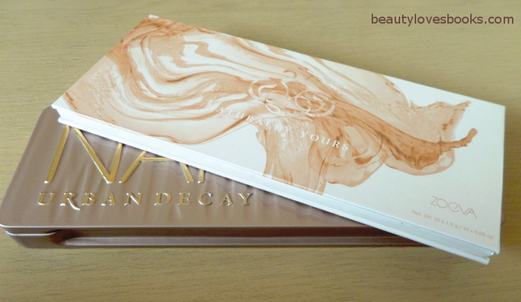 Zoeva Naturally yours palette, Urban Decay Naked 3 palette