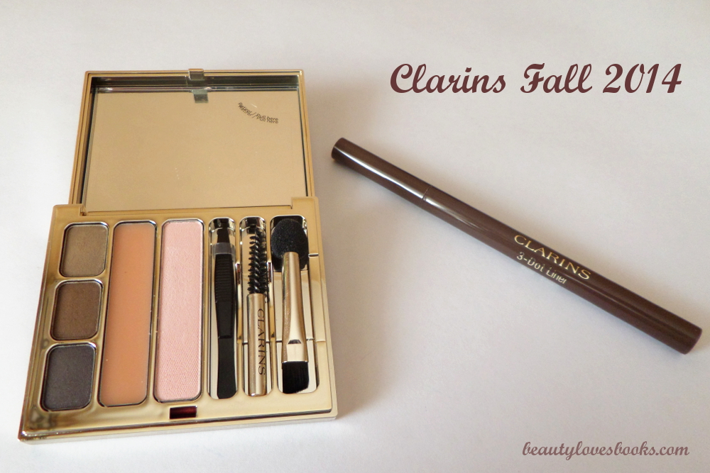 Clarins Perfect eyes & brows palette fall 2014 and Clarins 3-dot liner in brown