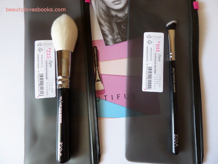 Zoeva 101 Luxe definer brush and 235 contour shader