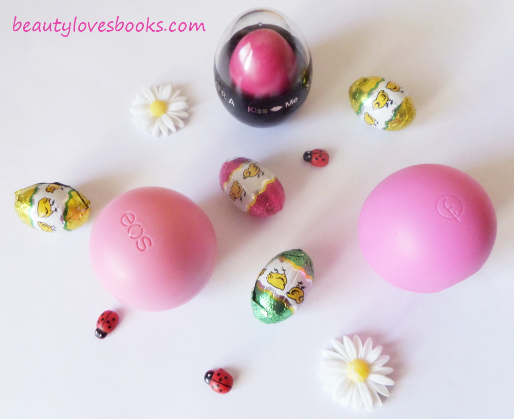 Egg-shaped lip balms, EOS, Flomar, Sephora
