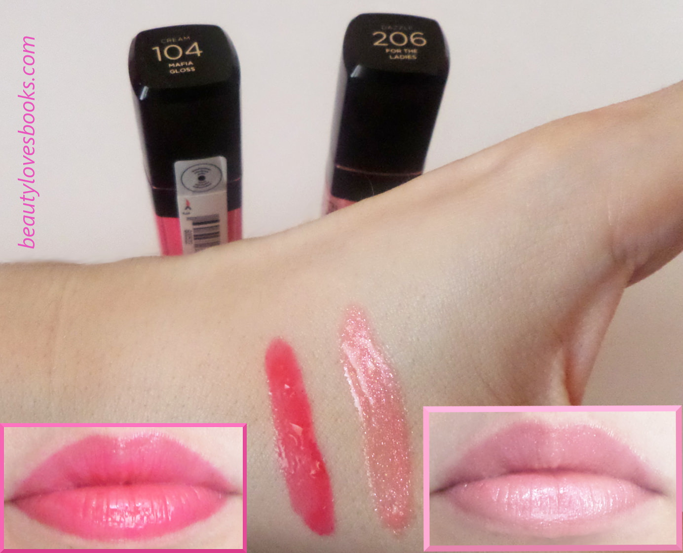L'Oreal Infallable Mega gloss in 104 Mafia Gloss and 206 For the ladies