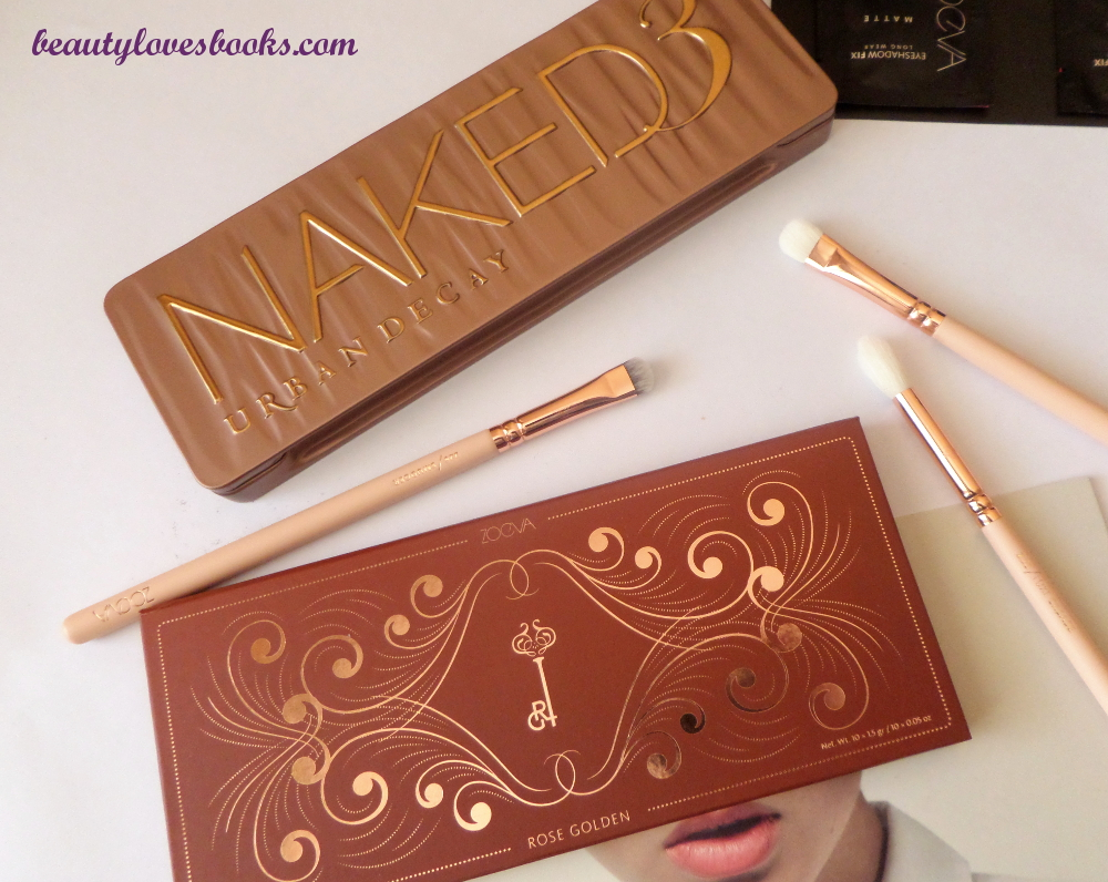 Zoeva Princess palette, Urban Decay Naked 3 palette
