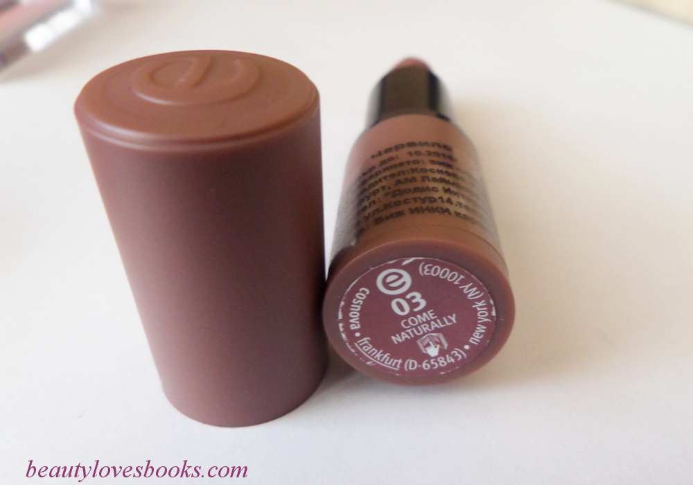 Essence lipstick in 03 Come naturally