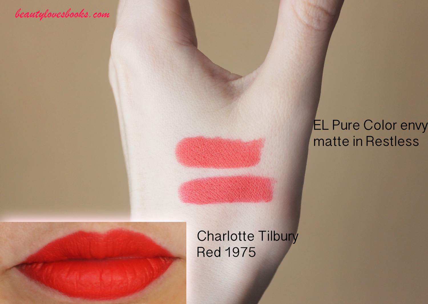 Charlotte Tilbury Matte revolution lipstick in the shade 1975 Red