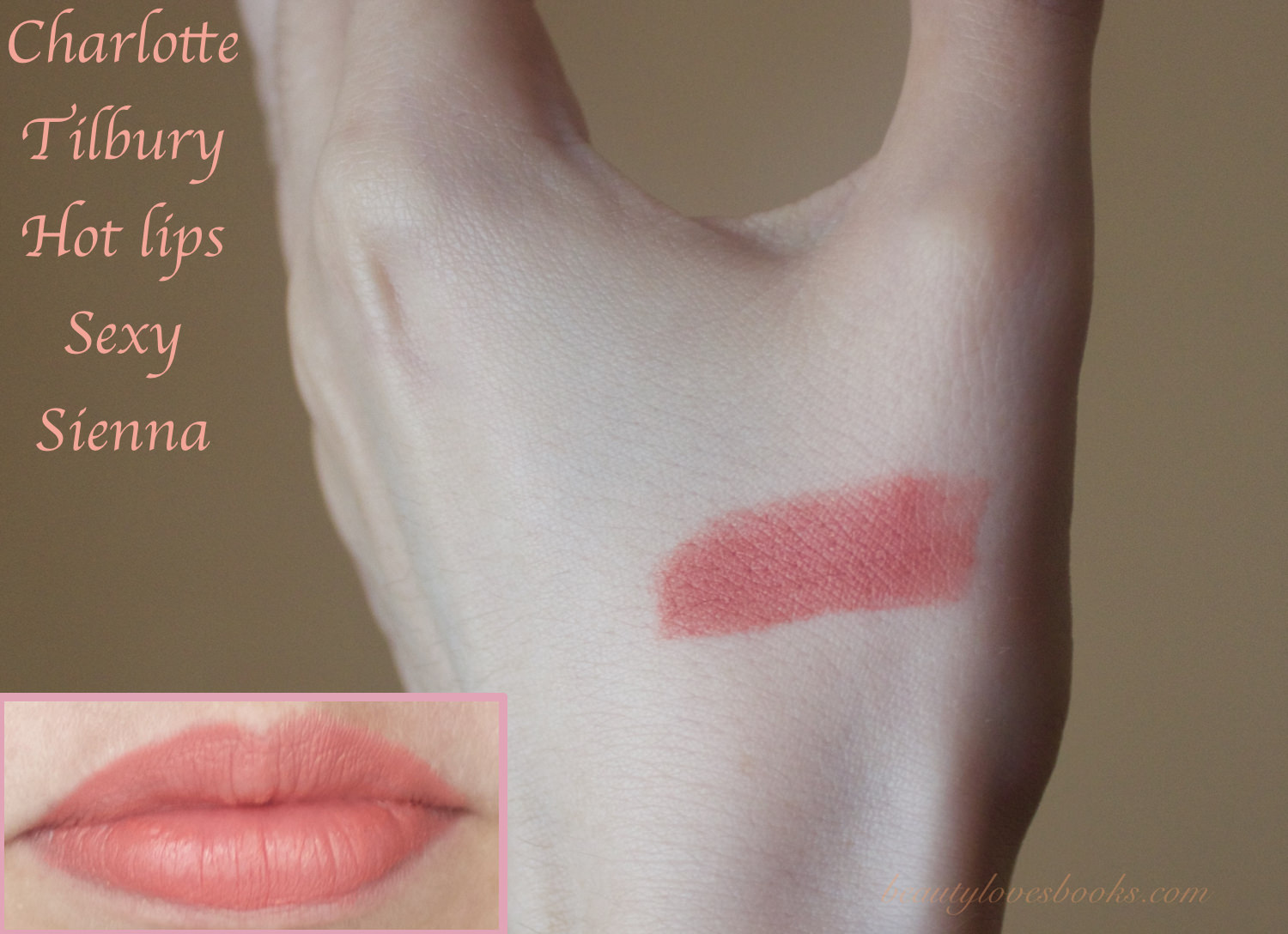 Charlotte Tilbury Hot lips collection Sexy Sienna swatches