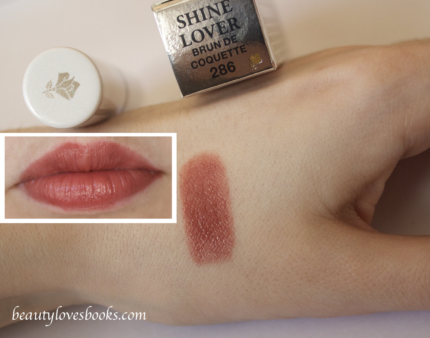 Lancome Shine lover in 286 Brun de coquette swatch
