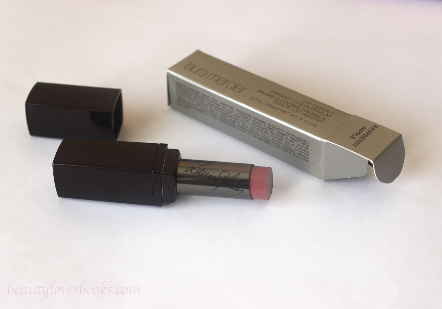 Laura Mercier lip parfait creamy colourbalm in the shade Raspberry ripple