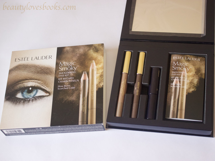 Estée Lauder Magic Smoky Powder Shadow sticks in 04 Slow Burn/ 06 Scorched gold and Little Black primer