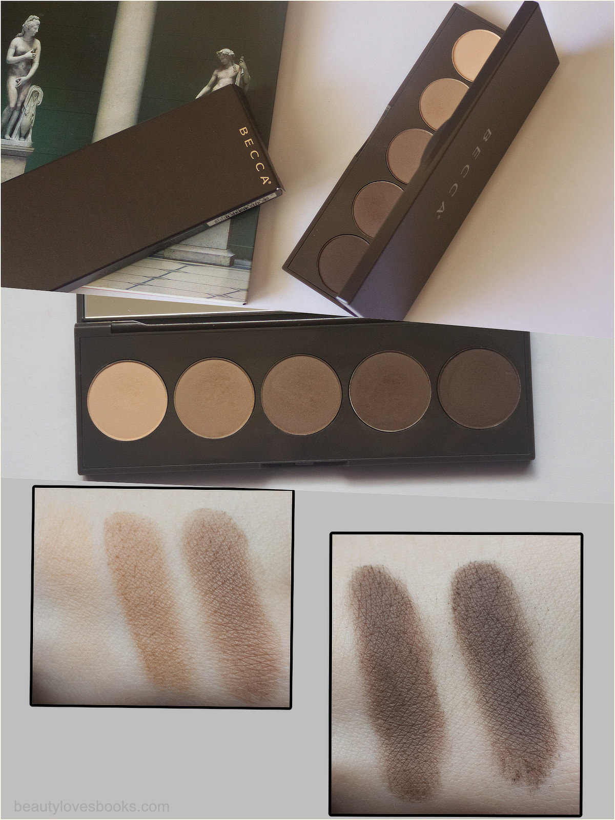 Becca Ombré Nudes Eye Palette - swatches