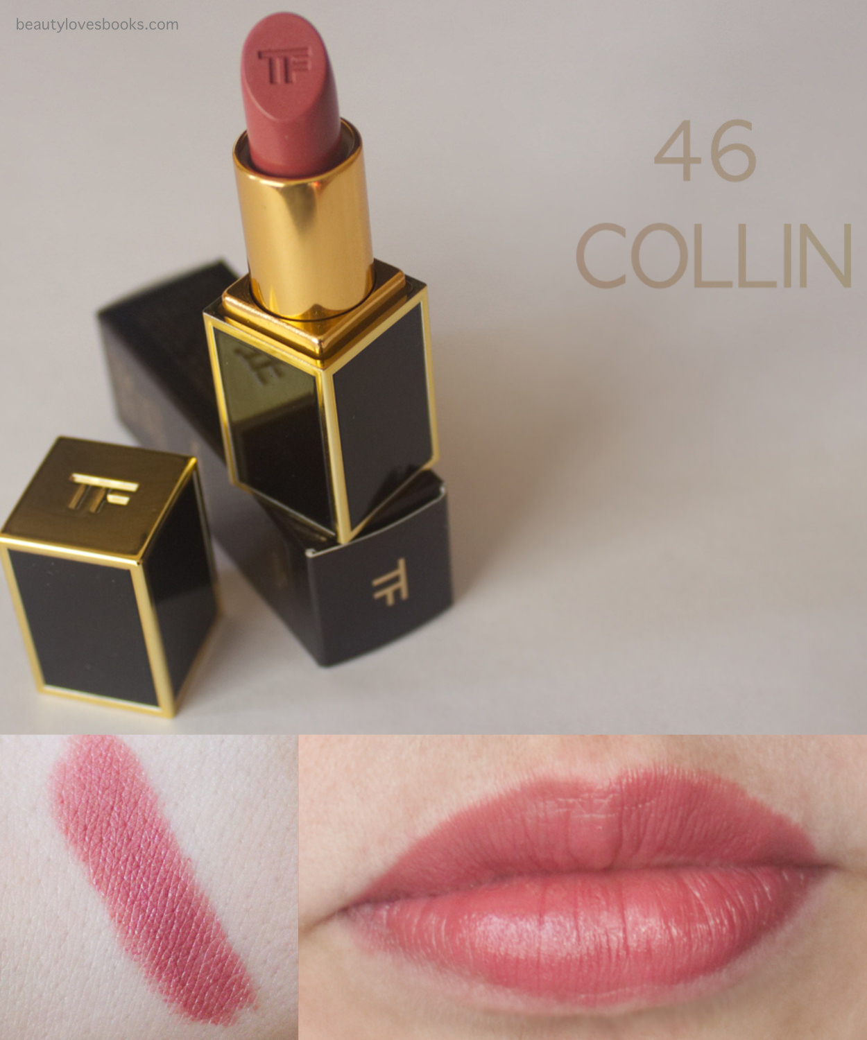 Tom Ford Lips & Boys lipstick in the shade 46 Collin swatches