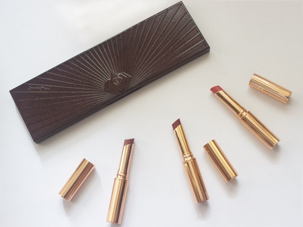 Charlotte Tilbury Superstar lips in Pillow talk, Walk of shame and Happy lips
