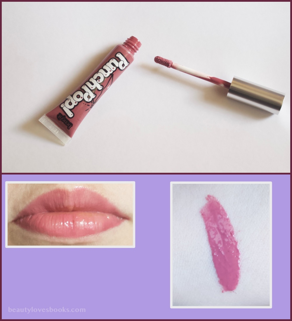 Benefit Punch Pop lip colour in the shade Pink-berry swatches